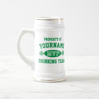 Personalize Irish Drinking Team MVP 18 Oz Beer Stein