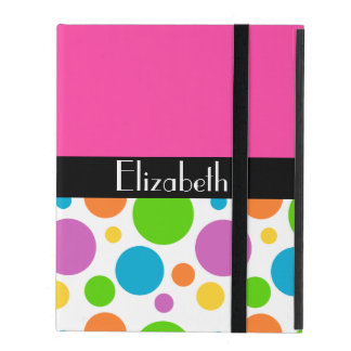 Personalize it -  Multicolored Polka Dot Pattern iPad Cases