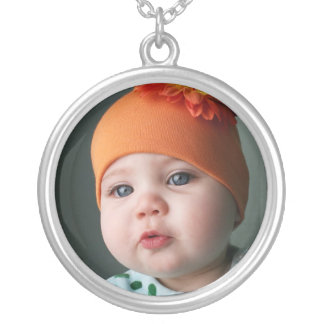 Personalize it with your own photo silver plated necklace