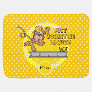 Personalize - Just Monkeying Around Baby Blanket