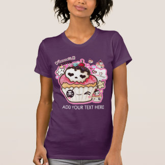 Personalize kawaii cute skull cupacke tee shirts