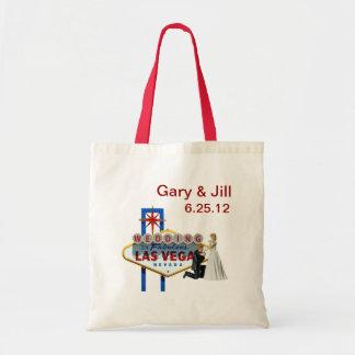Personalize Las Vegas Wedding Bag, Bride & Groom Budget Tote Bag