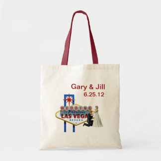 Personalize Las Vegas Wedding Bag, Bride & Groom Tote Bag
