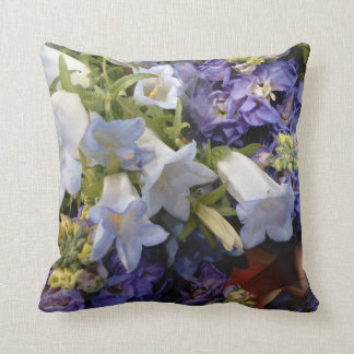 Personalize Lavender Flowers Square Bed Pillow