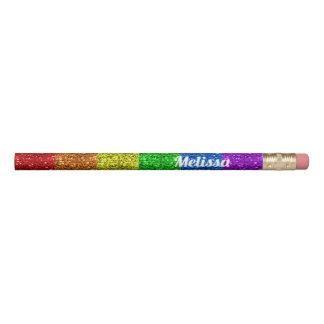 Personalize LGBT flag vibrant sparkles Pencil