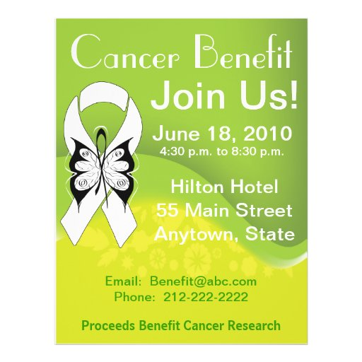 Personalize Lung Cancer Fundraising Benefit Custom Flyer