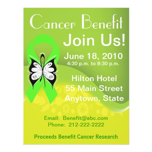 Personalize Lymphoma Fundraising Benefit Full Color Flyer