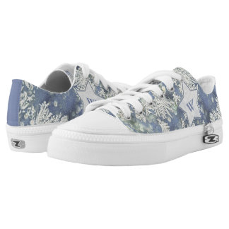 Personalize: Macro Nature Photo of Frost  Low Tops Printed Shoes