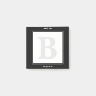 Personalize:  Minimalist Black and White Geometric Post-it Notes