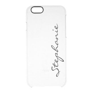 Personalize:  Minimalist Cursive Name or Monogram Clear iPhone 6/6S Case
