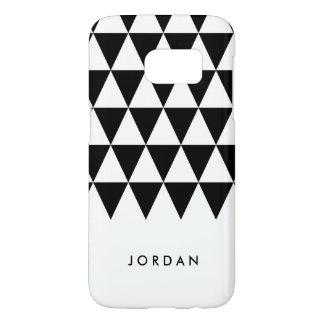 Personalize Minimalist White Black Triangle