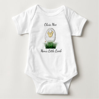 "Personalize, ""Mom's Little Lamb."" Baby Bodysuit"