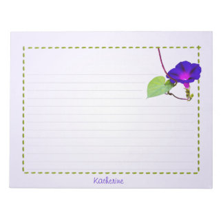 Personalize: Morning Glory Floral Photography Notepad