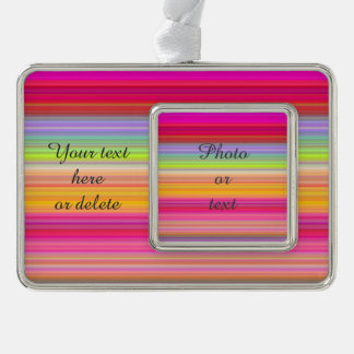 Personalize - Multicolor gradient background Silver Plated Framed Ornament