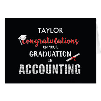 Personalize Name Accounting Graduation Congratulat Greeting Card