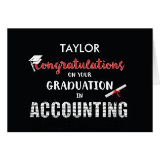 Personalize Name Accounting Graduation Congratulat Greeting Card