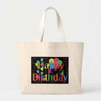 Personalize Name Birthday Party Celebration Art Tote Bags