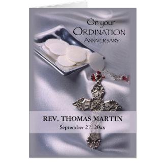 Personalize Name, Date, 25th Ordination Anniversar Card