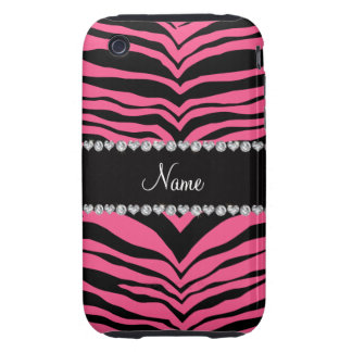 Personalize name pink tiger stripes iPhone 3 tough cover