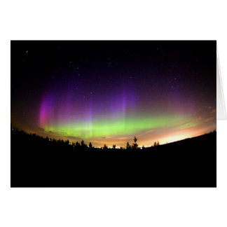 Personalize Northern-Lights Aurora Borealis Sky Greeting Card