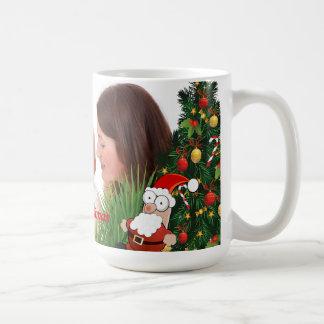 Personalize photo image christmas basic white mug
