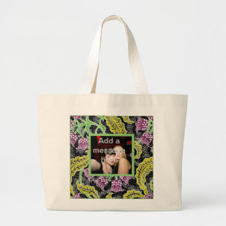 PERSONALIZE PHOTO/MESSAGE TEMPLATES JUMBO TOTE BAG
