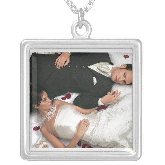 PERSONALIZE PHOTO STERLING SILVER SILVER PLATED NECKLACE
