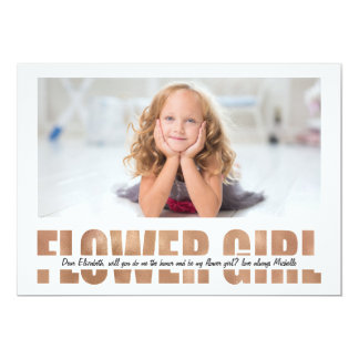 PERSONALIZE PHOTO WILL YOU BE MY FLOWER GIRL CARD