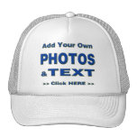 personalize photos text add images customize make mesh hats