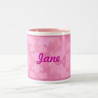 Personalize Pink Camouflage Mug