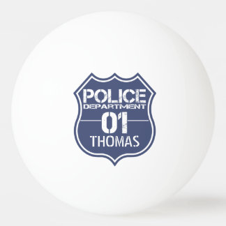 Personalize Police Department Shield 01 - Any Name Ping Pong Ball