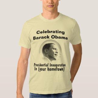 Personalize President Obama Inauguration Souvenir Tee Shirts