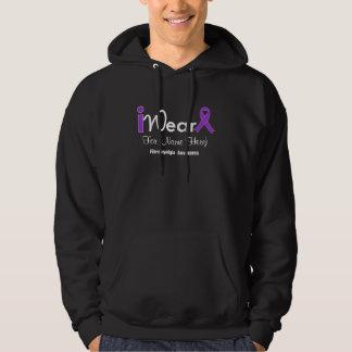 Personalize Purple Ribbon Fibromyalgia Hooded Sweatshirts
