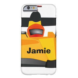 Personalize Race Car Birthday Party Gifts Barely There iPhone 6 Case