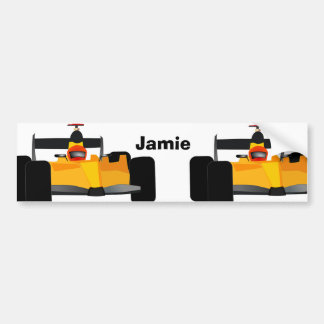 Personalize Race Car Birthday Party Gifts Bumper Stickers