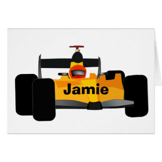 Personalize Race Car Birthday Party Gifts Greeting Card