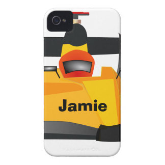 Personalize Race Car Birthday Party Gifts iPhone 4 Covers