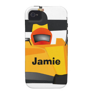 Personalize Race Car Birthday Party Gifts Case For The iPhone 4