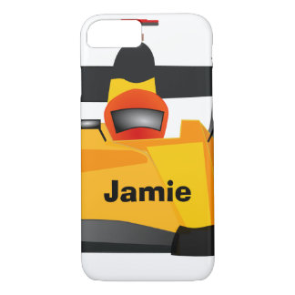 Personalize Race Car Birthday Party Gifts iPhone 7 Case