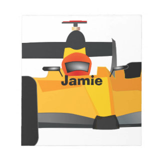Personalize Race Car Birthday Party Gifts Notepad