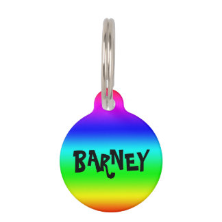 Personalize Rainbow Pet Tag