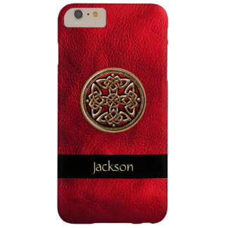 Personalize Red Leather Celtic Knot iPhone 6 Case