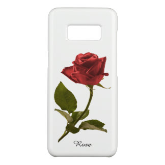 Personalize:  Red Rose Nature Photography Case-Mate Samsung Galaxy S8 Case