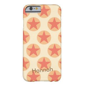 Personalize Red Star Pattern by storeman Barely There iPhone 6 Case