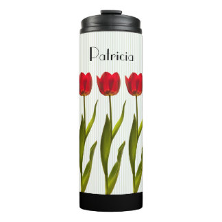 Personalize:  Red Tulip Floral Photography Thermal Tumbler