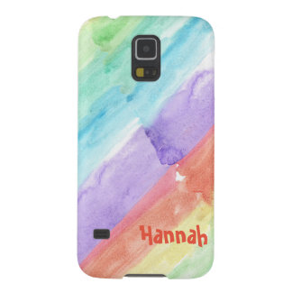 Personalize Seamless Watercolor Pattern Galaxy S5 Cover