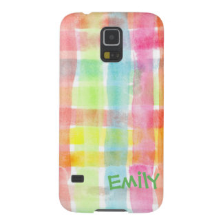 Personalize Seamless Watercolor Pattern Galaxy S5 Covers