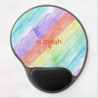 Personalize Seamless Watercolor Pattern Gel Mouse Mat