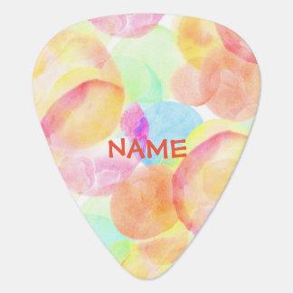 Personalize Seamless Watercolor Pattern Guitar Pick