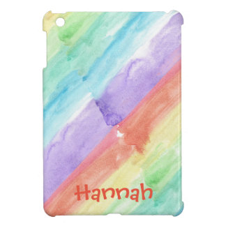 Personalize Seamless Watercolor Pattern iPad Mini Covers